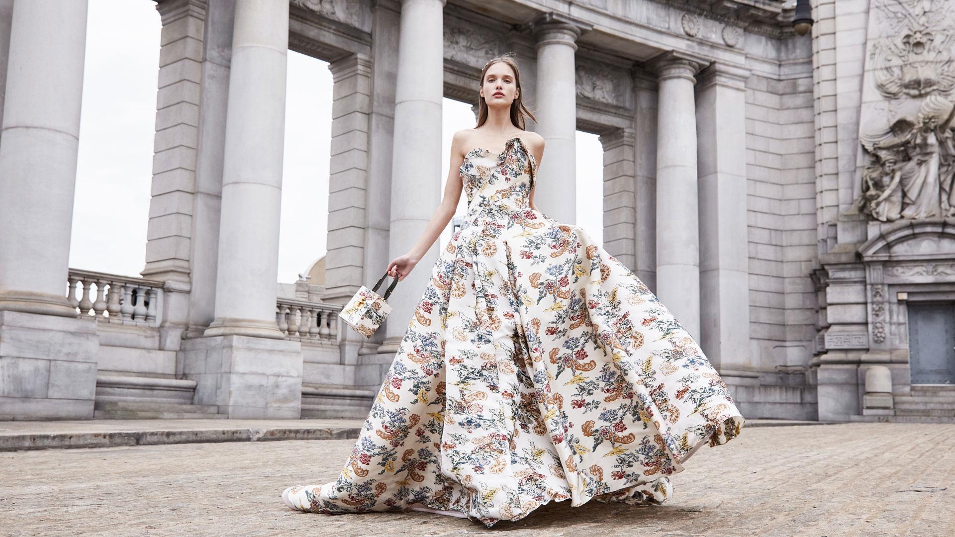 Saks Fifth Avenue Oscar de la Renta gown