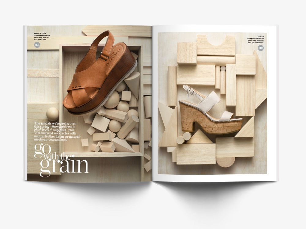 Bloomingdale's Catalog Spring 2016 Woodblock Heels