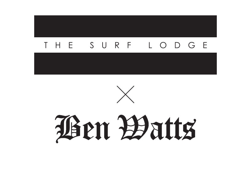 The Surf Lodge X Ben Watts Label Graphic