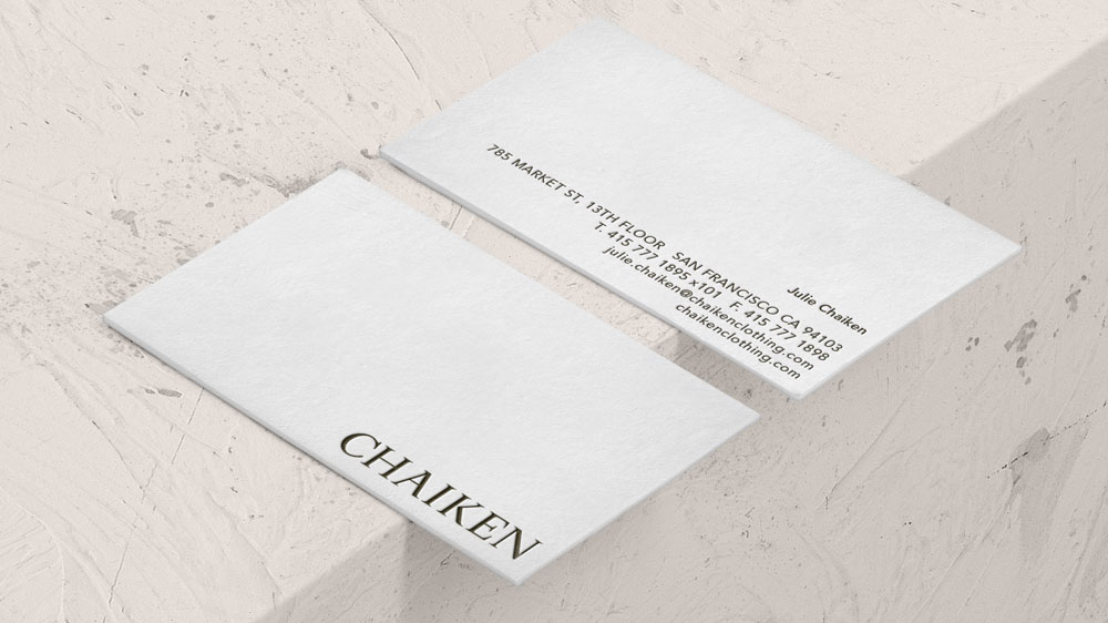 Chaiken Business Card Design