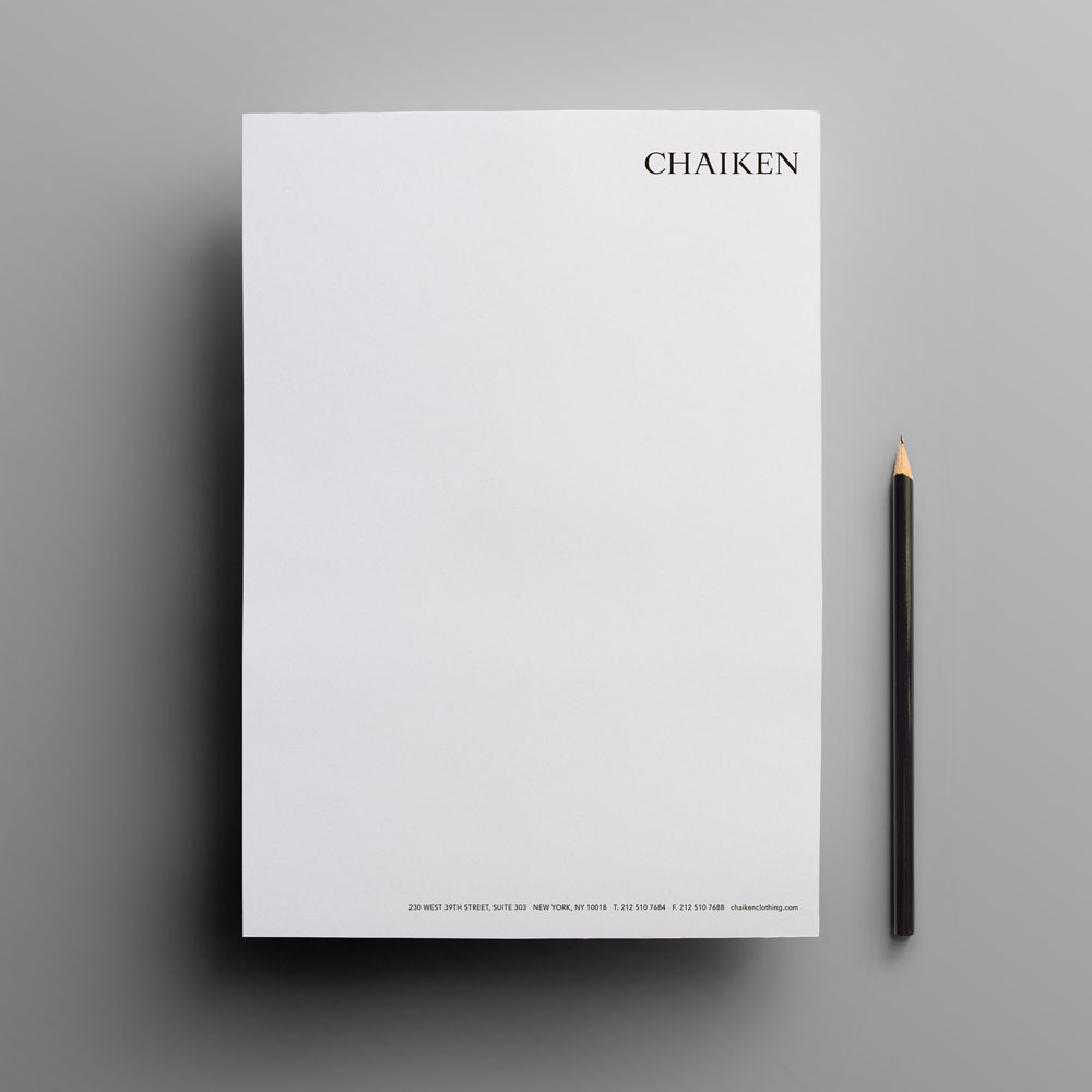 Chaiken Stationery Design