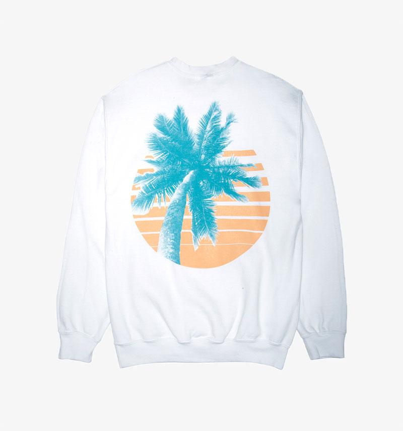 Paradised Palm Sweatshirt Graphic