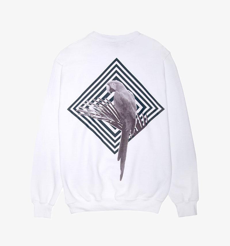 Paradised Parrot Sweatshirt Graphic